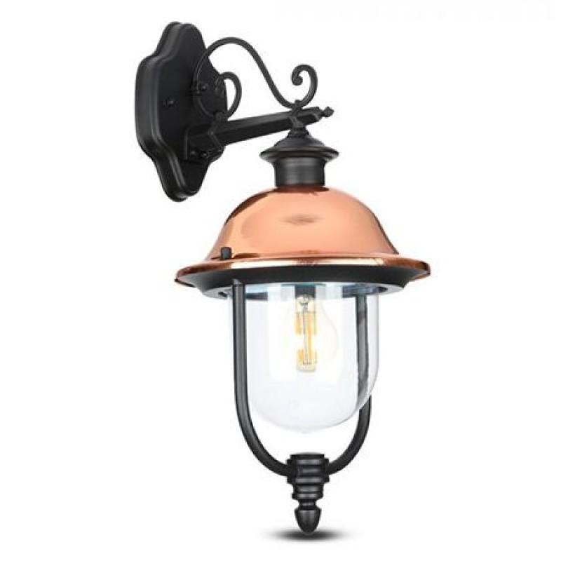 Lampa pentru terasa, 60 W, soclu E27, montaj perete, Negru