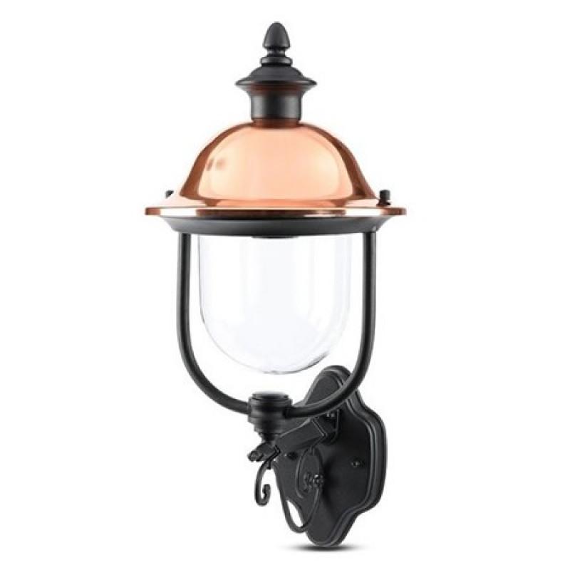 Lampa de gradina V-Tac, 60 W, IP44, E 27, aluminiu, Negru shopu.ro