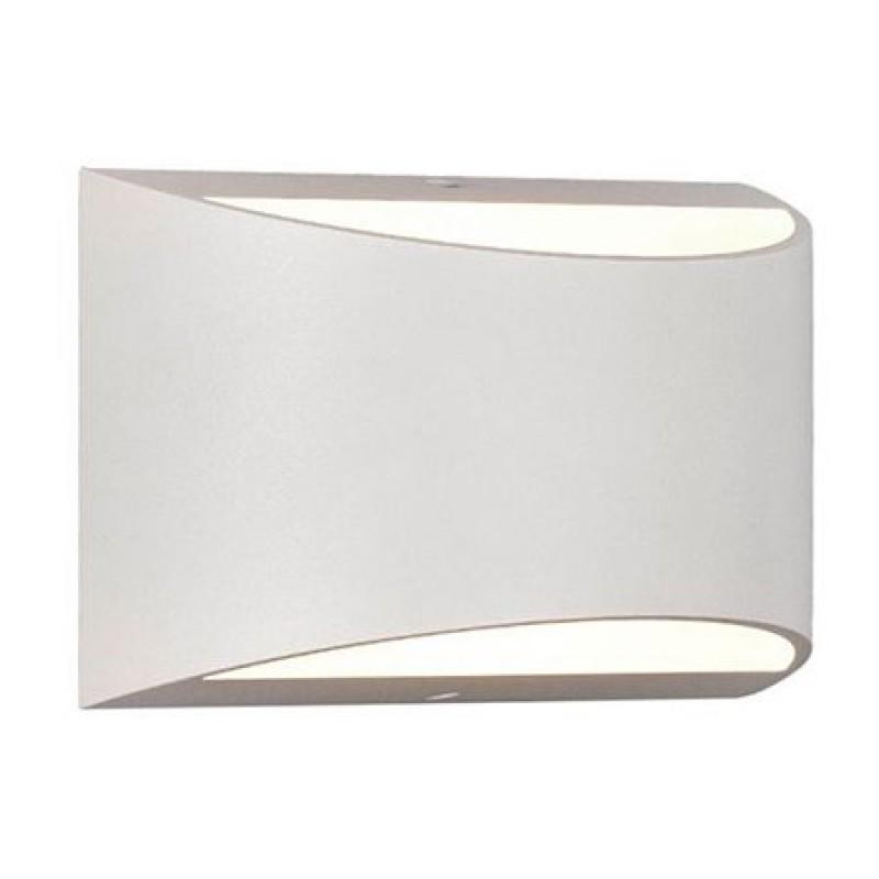 Lampa LED de perete, 10 W, 4000 K, 800 lm, IP54, culoare alb neutru, Alb shopu.ro