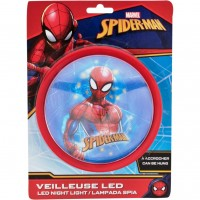 Lampa de veghe LED Spiderman Red SunCity, 14 x 14 x 5 cm