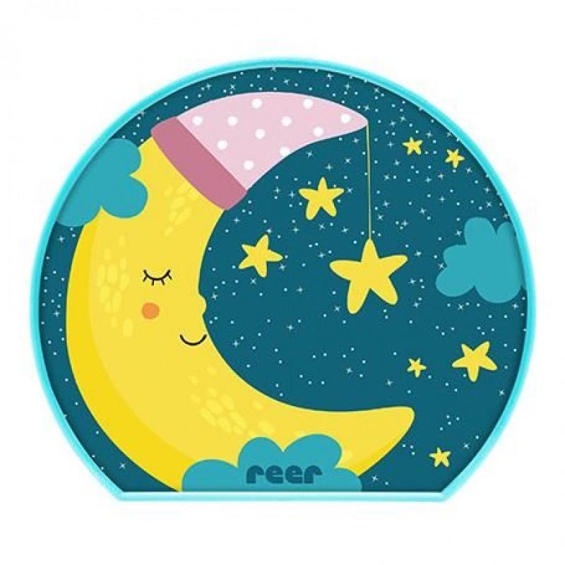 Lampa de veghe MyBabyLight Moon Reer, 2 x AA, Multicolor 2021 shopu.ro