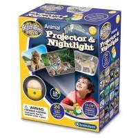 Lampa de Veghe si Proiector Animale Brainstorm Toys, 24 imagini, Galben/Verde