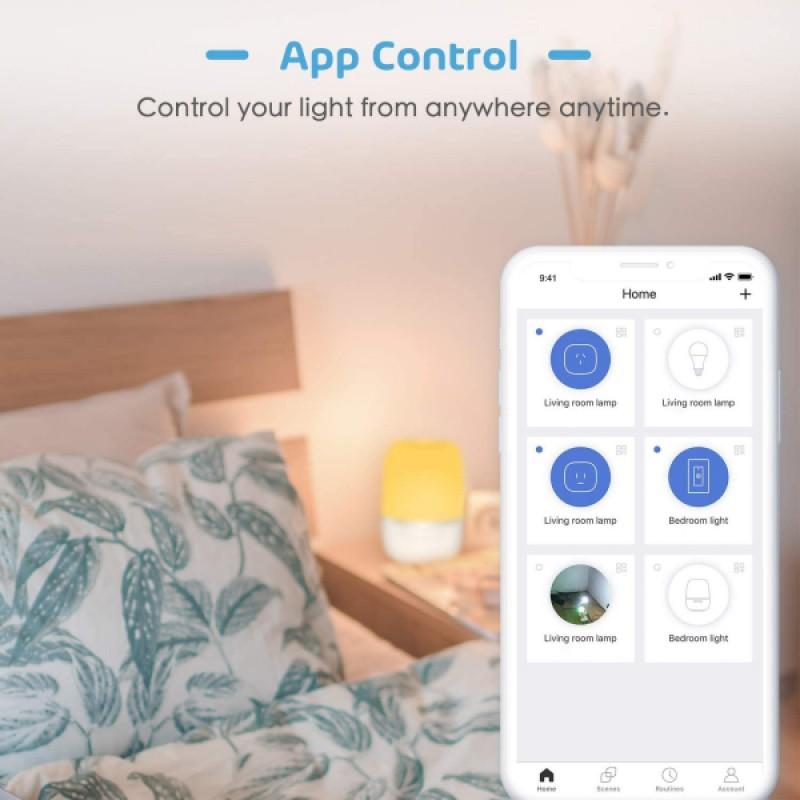 Lampa de veghe Smart Meross, 4 W, Wi-Fi, RGB, control iluminare si culoare