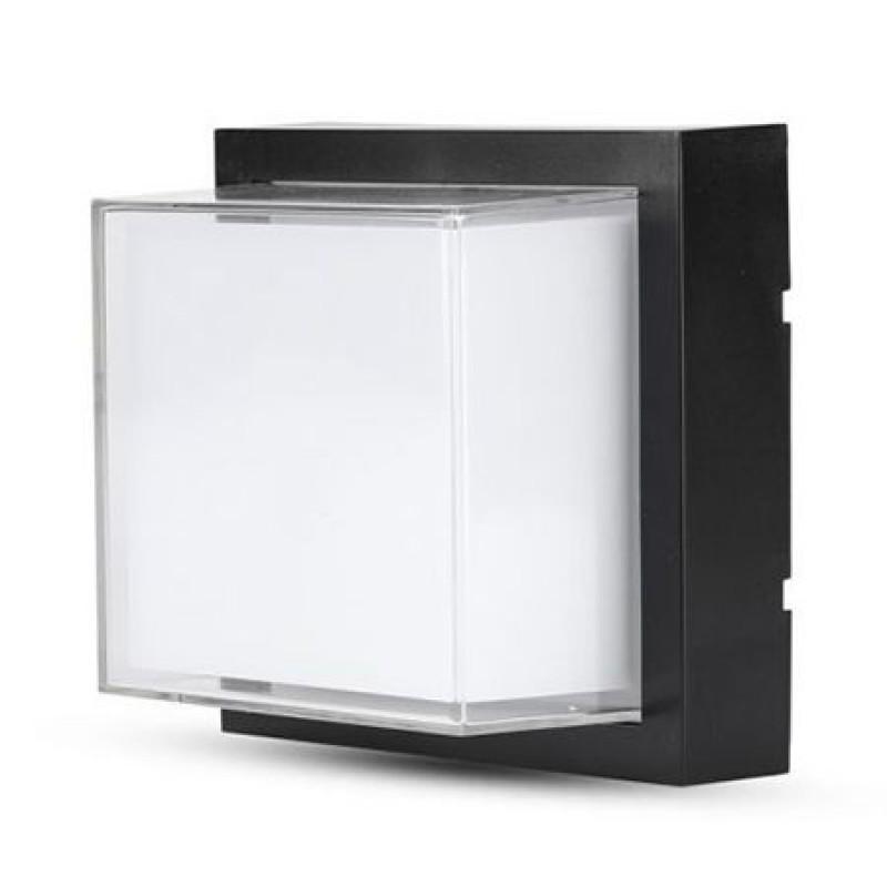 Lampa LED, 12 W, 4000 K, 900 lm, IP65, culoare alb neutru, forma patrata, Negru shopu.ro