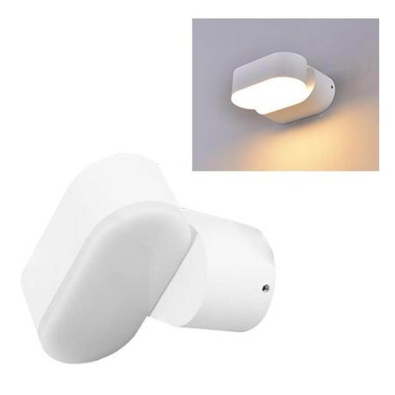 Lampa LED 6 W, orientabila, temperatura alb neutru, 660 lm, alb shopu.ro