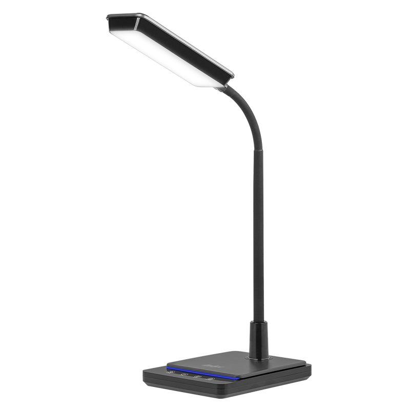 Lampa birou Rebel, 8 W, 48 x LED, 450 lm, brat flexibil, afisare temperatura shopu.ro