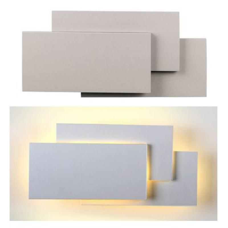 Lampa LED, putere 12 W, 1100 lm, 4000 K, alb neutru, montaj perete, gri 2021 shopu.ro