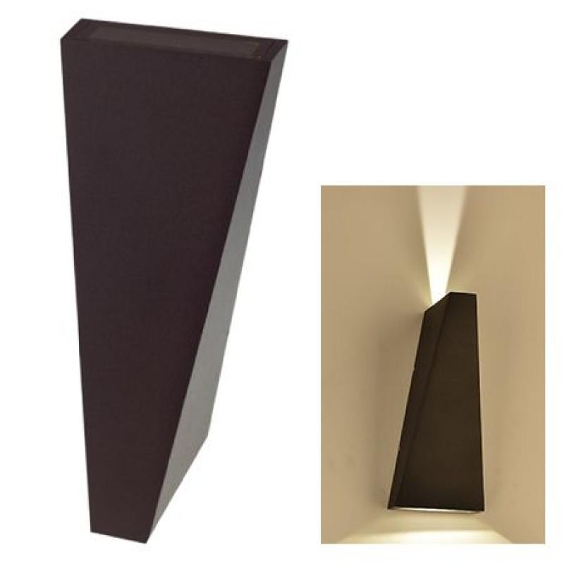 Lampa LED, 6 W, temperatura alb neutru, 660 lm, montaj perete, negru shopu.ro