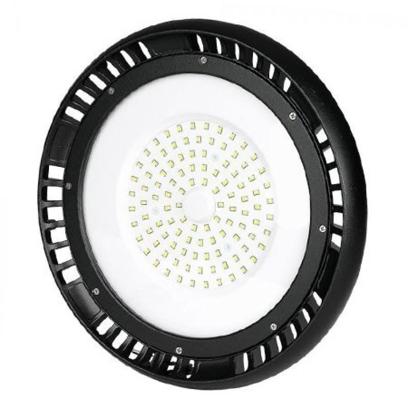 Lampa LED iluminat industrial, 100 W, 1300 lm, 6400 K, lumina alb rece, Negru 2021 shopu.ro