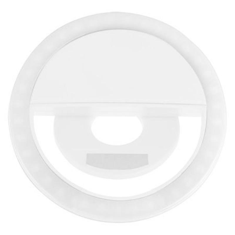 Lampa LED selfie, alimentare baterii 400 mAh, 5600 K alb rece 2021 shopu.ro
