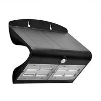 Lampa LED solara, 6.8 W, temperatura alb neutru, 800 lm, senzor miscare, Negru