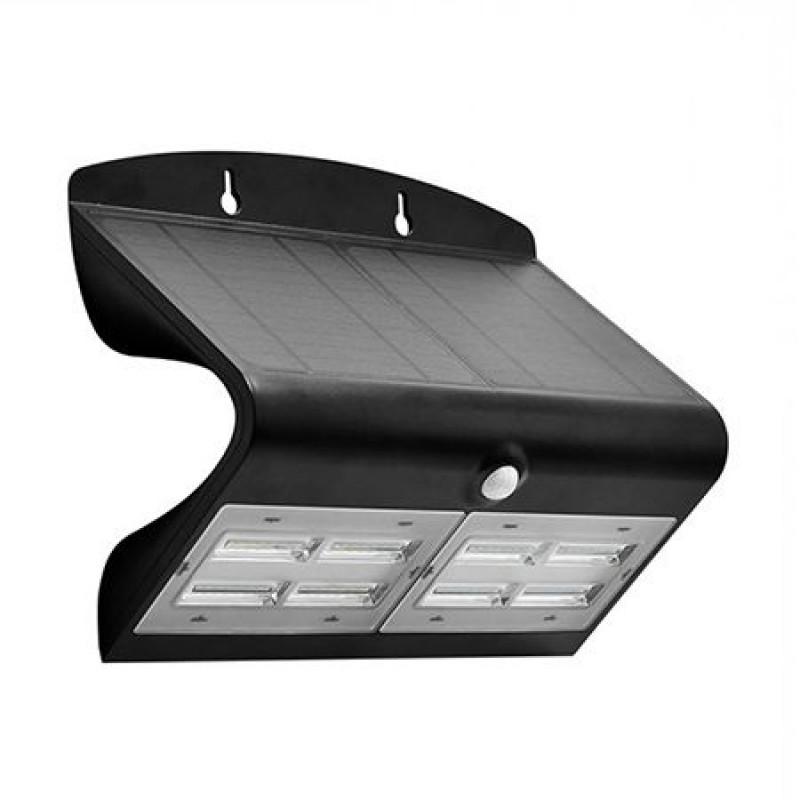 Lampa LED solara, 6.8 W, temperatura alb neutru, 800 lm, senzor miscare, Negru shopu.ro