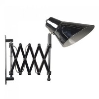 Lampa crom, soclu E27, montaj perete, brat ajustabil, negru