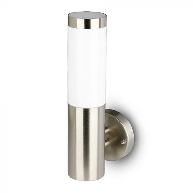 Lampa perete V-Tac, 60 W, IP44, E 27, 76 x 335 x 110 mm, inox, Gri shopu.ro