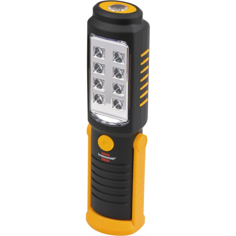 Lanterna de lucru LED Brennenstuhl 8 + 1, 21.5 x 4.5 x 5.5 cm, SMD-LED, 6000 K, pliabila, multifunctionala, baterii incluse 2021 shopu.ro