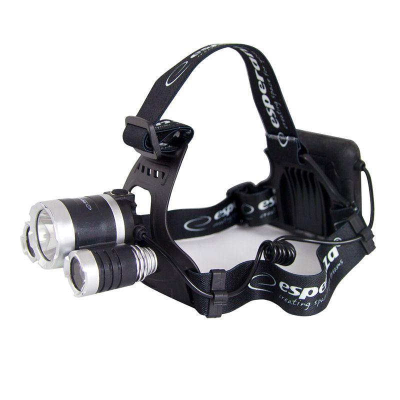 Lanterna frontala LED Cree Cepheus Esperanza, T6 + 2 x XPE, 5 W, 200 lm, rezistenta la apa, Negru shopu.ro