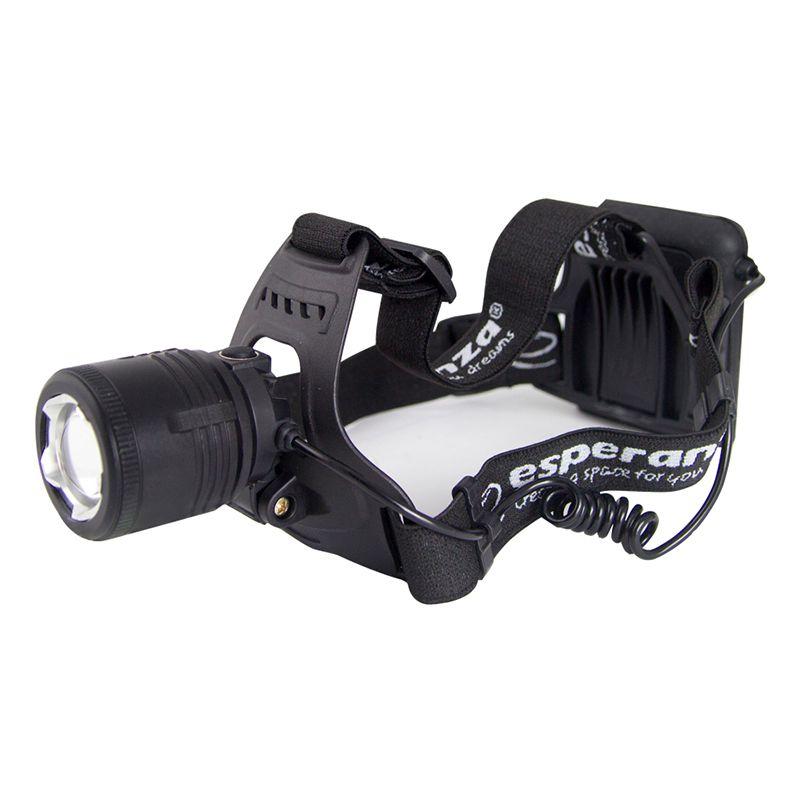 Lanterna frontala LED Cree Ursa Esperanza, T6, 5 W, 600 lm, rezistenta la apa, Negru 2021 shopu.ro