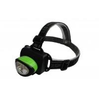 Lanterna frontala Well, 6 leduri, 60 lm, 3 x AA, curea elastica si reglabila