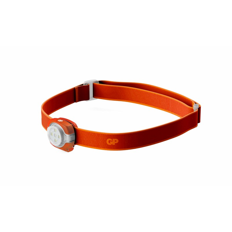 Lanterna frontala LED GP, 40 lm, 3 setari luminozitate, curea reglabila, portocaliu 2021 shopu.ro