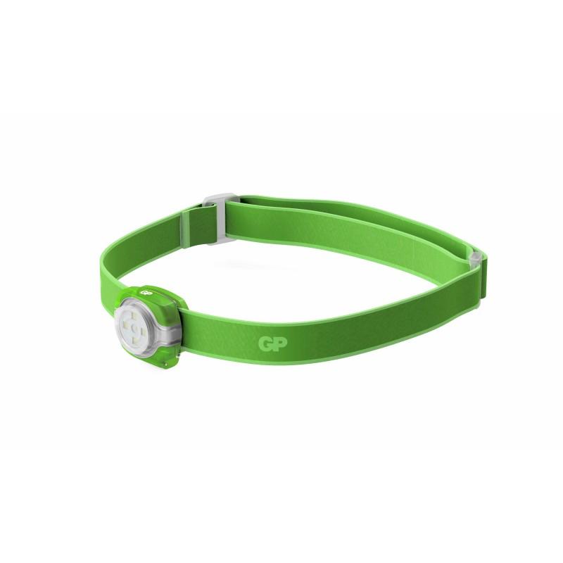 Lanterna frontala LED GP, 40 lm, 3 setari luminozitate, curea reglabila, verde 2021 shopu.ro