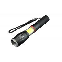 Lanterna LED Well, reincarcabila, 10W+COB, actiune pana la 200 m, zoom, aluminiu