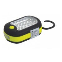 Lanterna magnetica cu carlig Mega, 24 + 3 leduri, 3 x AAA, 120 mm