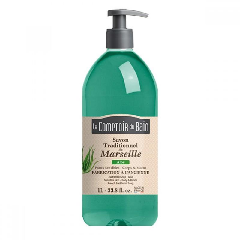Sapun lichid de Marsilia Le Comptoir du Bain, 1000 ml, aloe 2021 shopu.ro