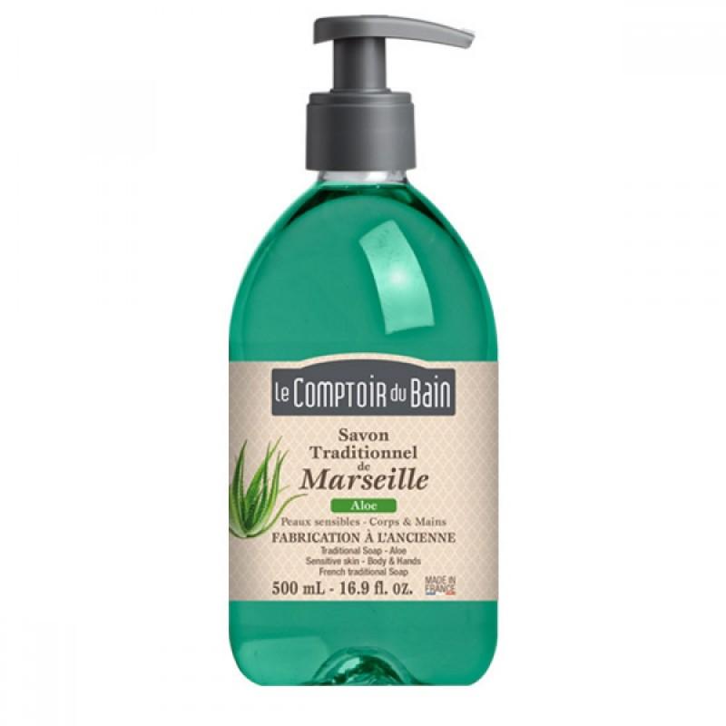 Sapun lichid de Marsilia Le Comptoir du Bain, 500 ml, aloe 2021 shopu.ro