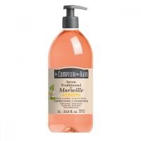 Sapun lichid de Marsilia Le Comptoir du Bain, 1000 ml, floare de portocal