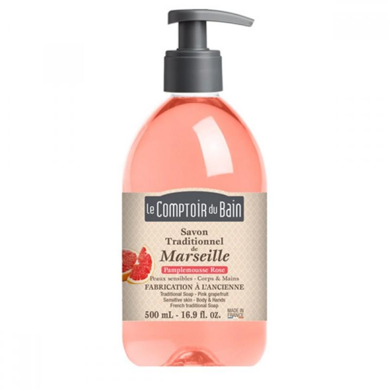 Sapun lichid de Marsilia Le Comptoir du Bain, 500 ml, grapefruit 2021 shopu.ro