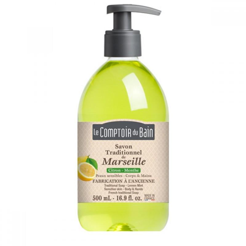 Sapun lichid de Marsilia Le Comptoir du Bain, 500 ml, lamaie/menta 2021 shopu.ro