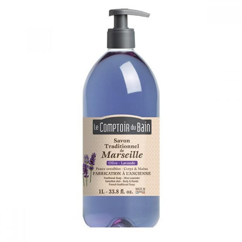 Sapun lichid de Marsilia Le Comptoir du Bain, 1000 ml, lavanda/maslin 2021 shopu.ro