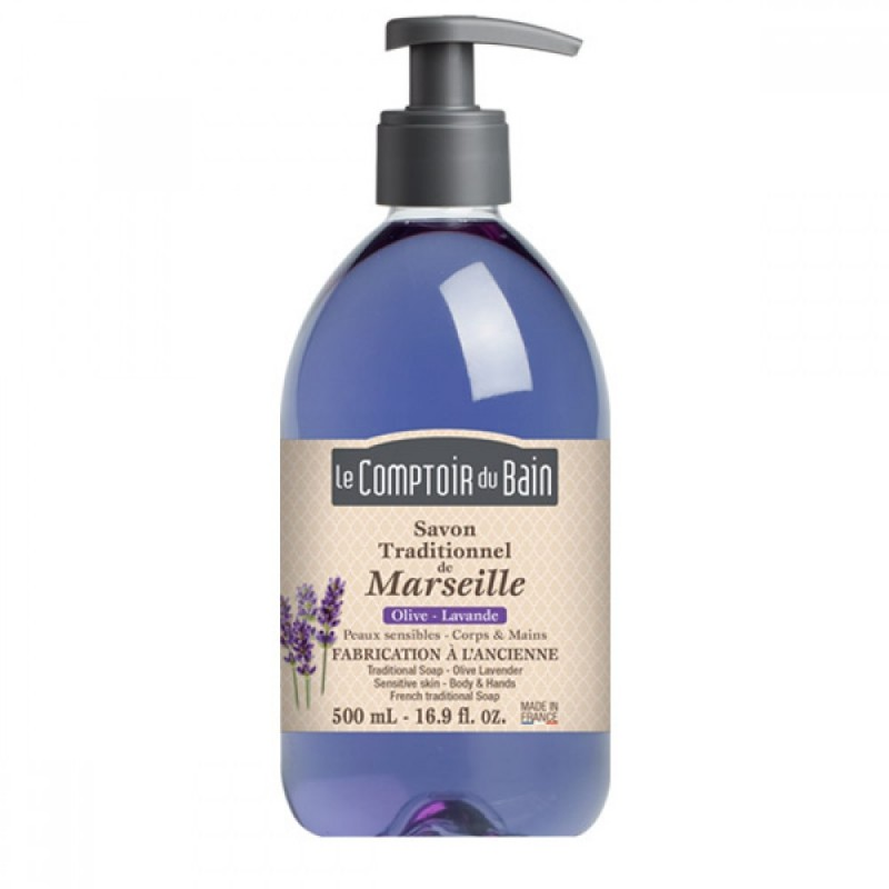 Sapun lichid de Marsilia Le Comptoir du Bain, 500 ml, lavanda/maslin 2021 shopu.ro