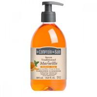 Sapun lichid de Marsilia Le Comptoir du Bain, 500 ml, mandarine/salvie