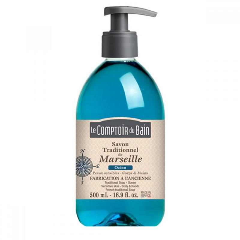 Sapun lichid de Marsilia Le Comptoir du Bain, 500 ml, ocean 2021 shopu.ro