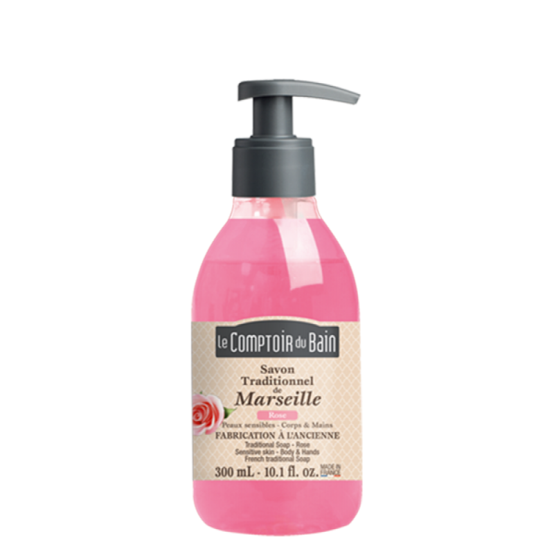 Sapun lichid de Marsilia Le Comptoir du Bain, 300 ml, trandafir 2021 shopu.ro