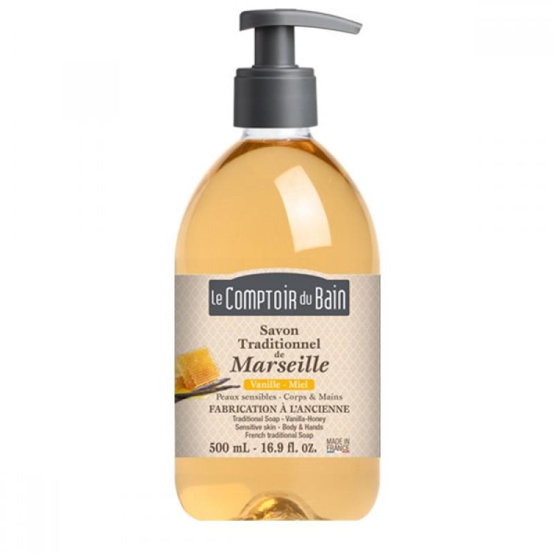 Sapun lichid de Marsilia Le Comptoir du Bain, 500 ml, vanilie/miere 2021 shopu.ro