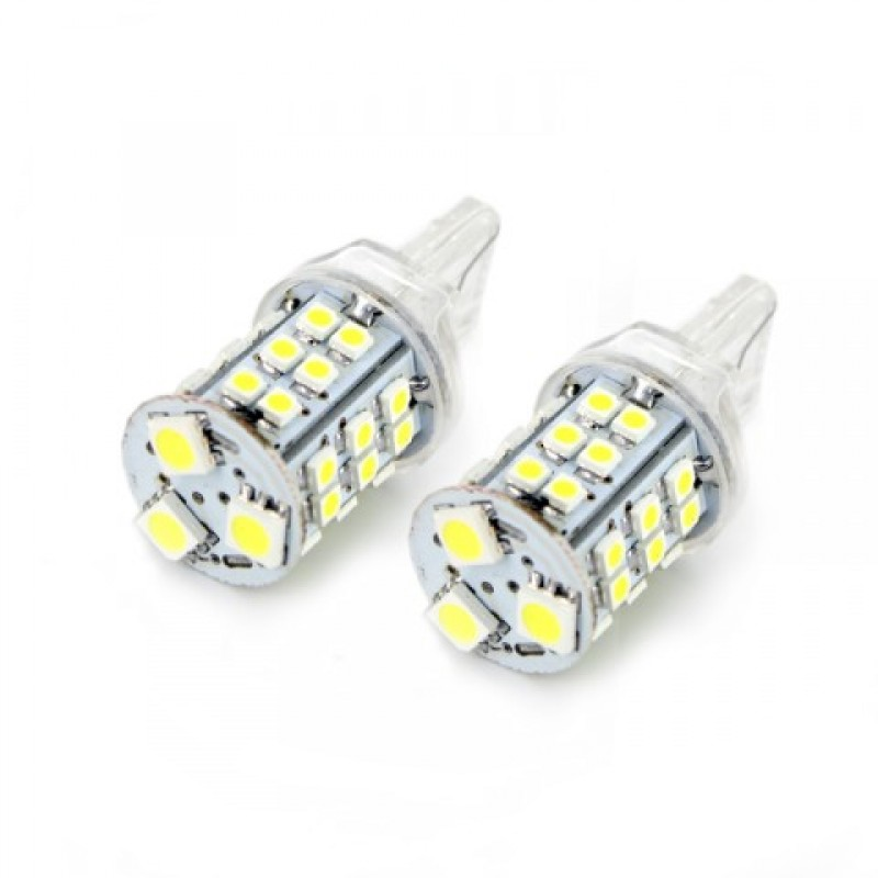 Set 2 becuri LED pentru lumina de zi Carguard, 4 W, 255 lm, T10 2021 shopu.ro
