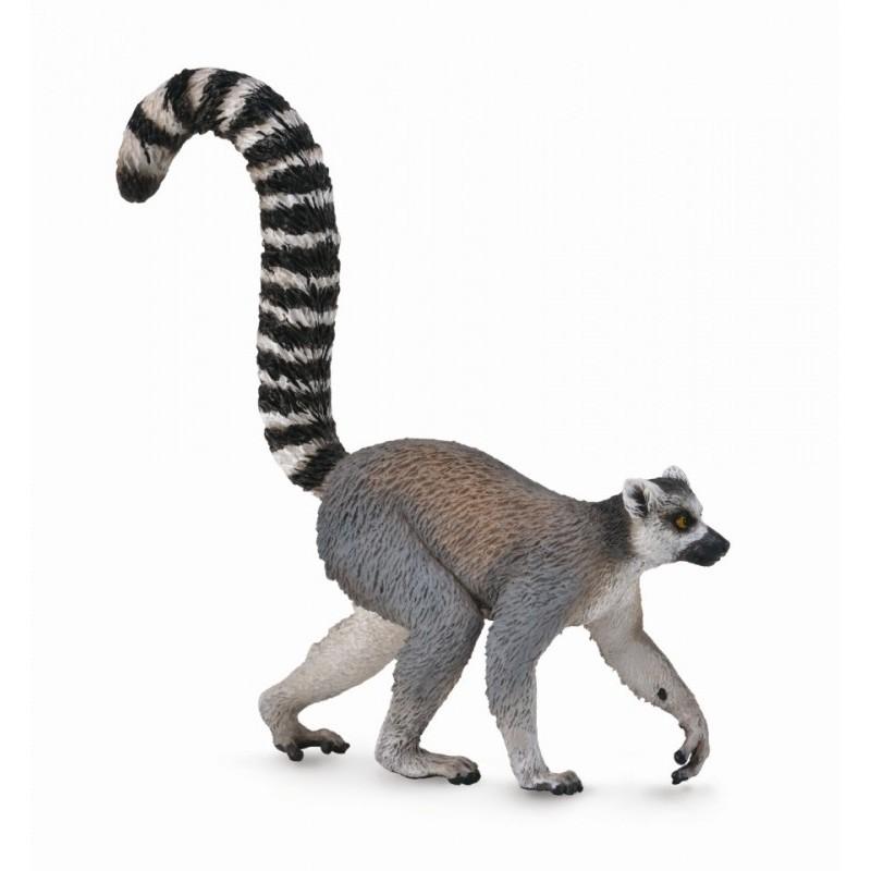 Figurina Lemur cu coada inel Collecta, 8 x 8 cm, 3 ani+ 2021 shopu.ro