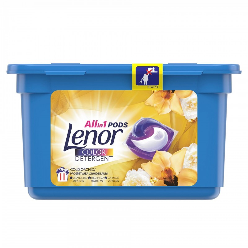 Detergent automat de rufe Lenor capsule Gold Orchid, 11 capsule x 26 ml 2021 shopu.ro