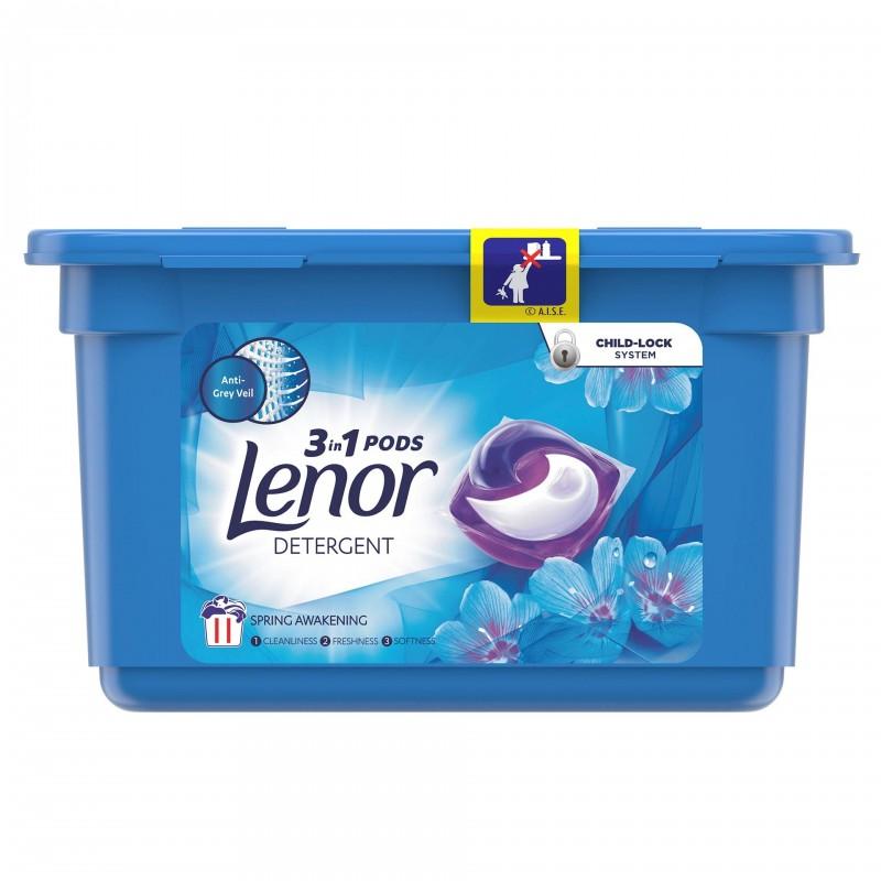 Detergent automat de rufe Lenor capsule Spring Awakening, 11 capsule x 26 ml 2021 shopu.ro