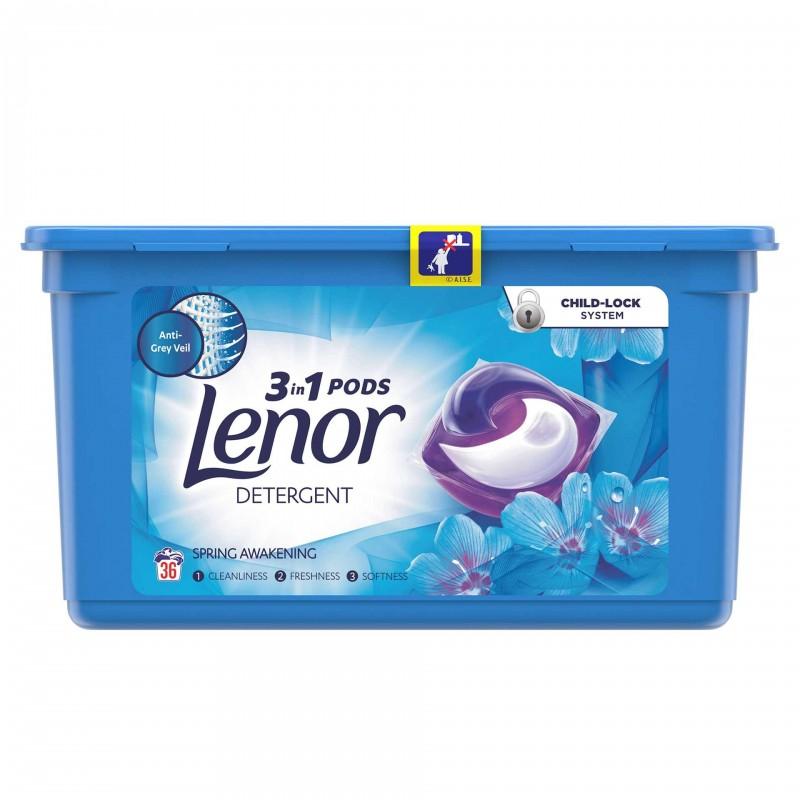 Detergent automat de rufe Lenor capsule Spring Awakening, 36 capsule x 26 ml 2021 shopu.ro
