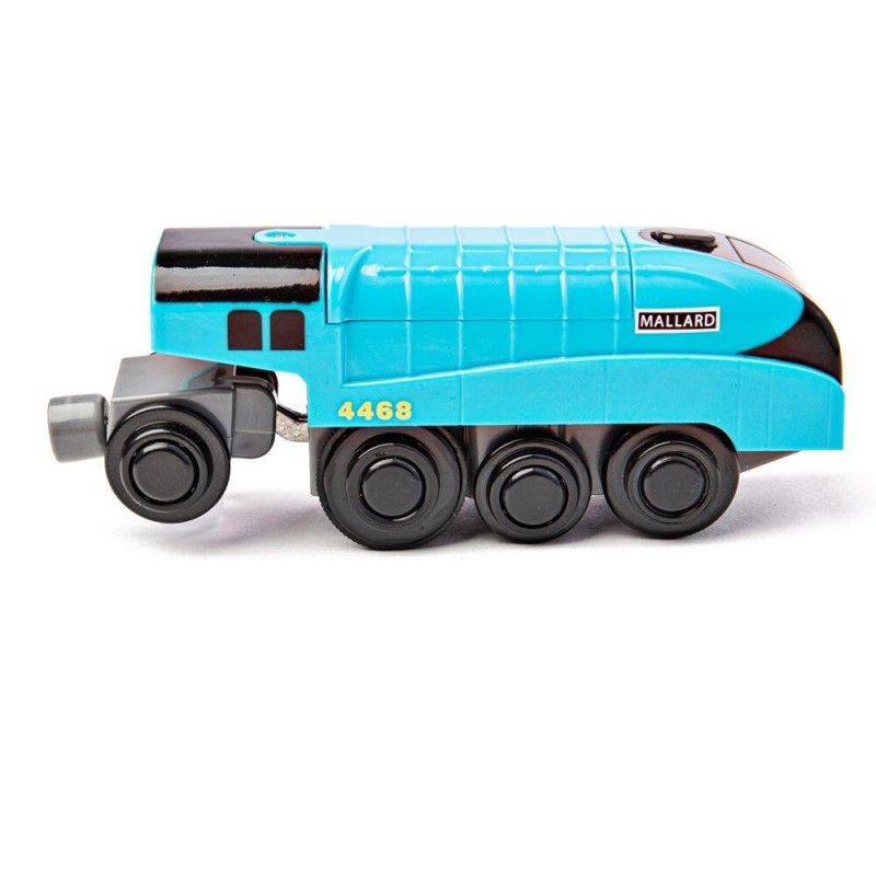 Locomotiva Electrica BigJigs, alimentare 2 x AAA, 3 ani+, Albastru 2021 shopu.ro