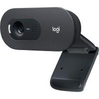 Camera web Logitech, HD, 720 p, USB-A, microfon incorporat, Negru