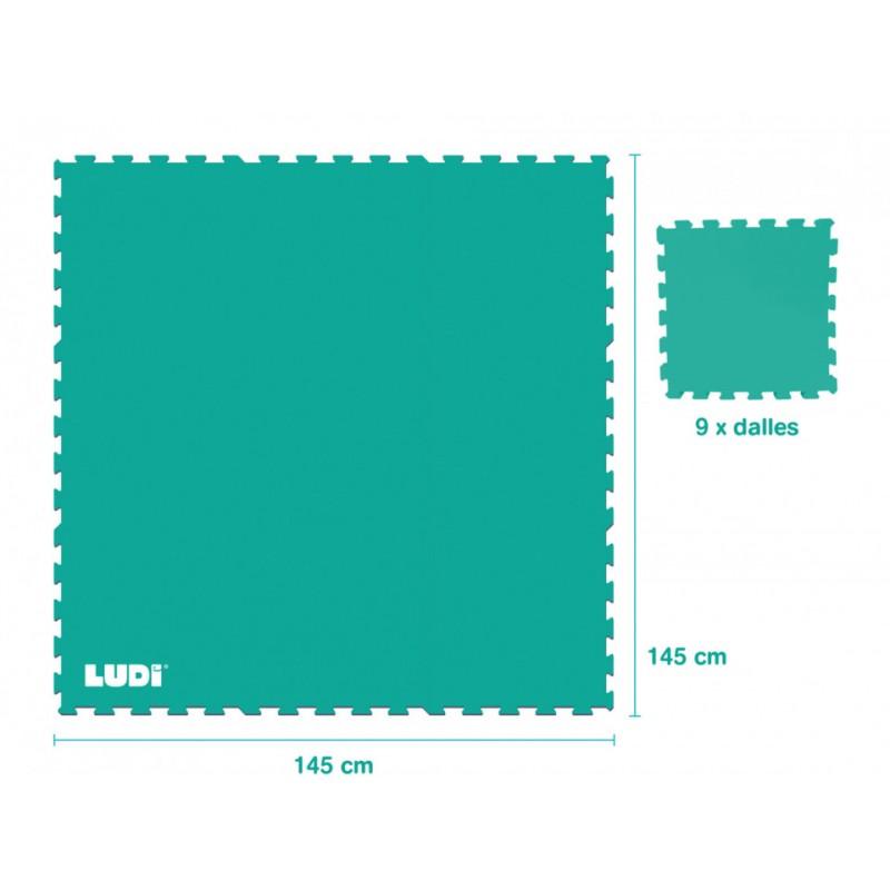 Covoras tip puzzle Ludi, EVA, 145 x 145 cm, 10 luni+, model play, Verde 2021 shopu.ro