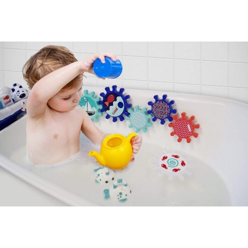 Jucarie de baie roti Ludi, ABS, 18 luni+, Multicolor