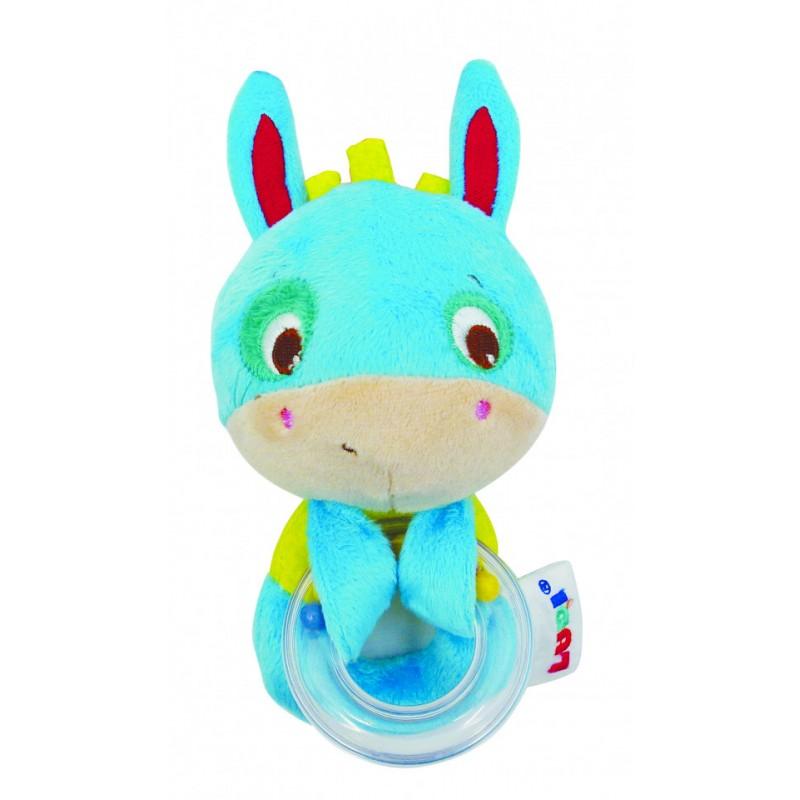 Jucarie senzoriala baby donkey Ludi, textil, 0 luni+, Albastru 2021 shopu.ro