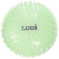 Minge senzoriala Ludi, PVC, 15 cm, 6 luni+, Fosforescent
