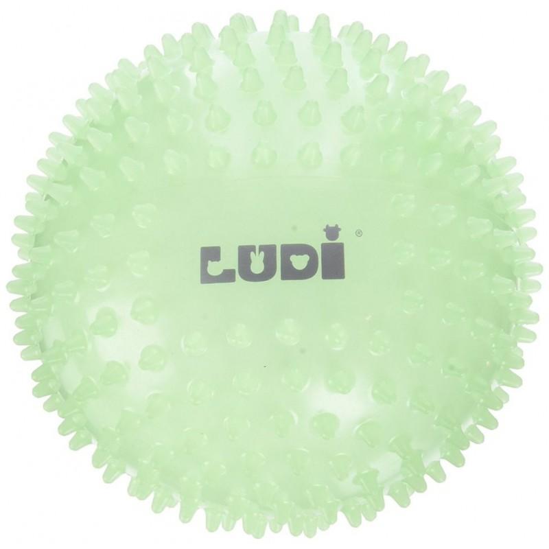 Minge senzoriala Ludi, PVC, 15 cm, 6 luni+, Fosforescent 2021 shopu.ro