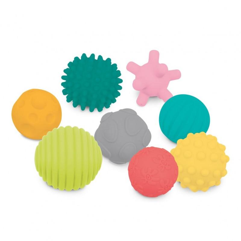 Set 8 mingii senzoriale Ludi, PVC, 6 luni+, Multicolor 2021 shopu.ro